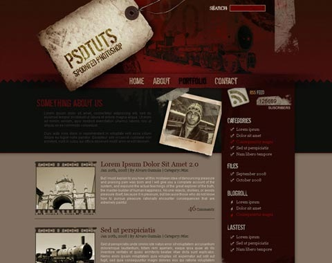 psdtutsgrunge 80 Fresh Photoshop Tutorials For Creating Awesome Websites