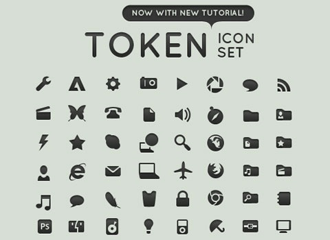 tokeniconset Essential Free Photoshop GUI Elements For Designers