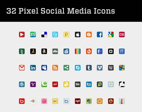 32pixelicxons 99 Icon Sets To Use In Commercial Design Projects