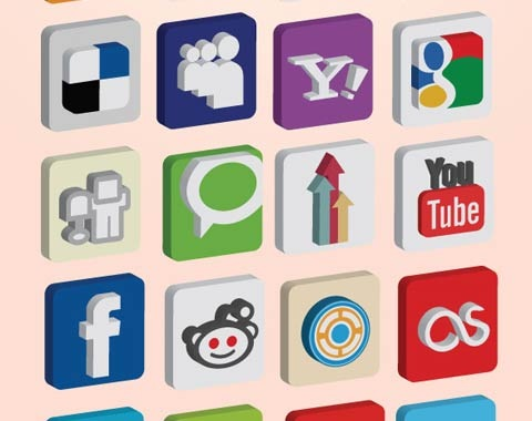 3dsocialicons 99 Icon Sets To Use In Commercial Design Projects
