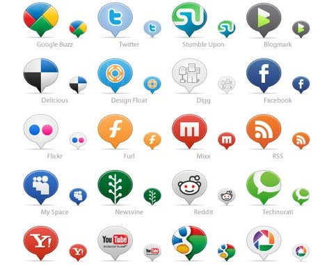 ballonsocialmediaicons 99 Icon Sets To Use In Commercial Design Projects