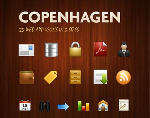 copenhagen 99 Icon Sets To Use In Commercial Design Projects