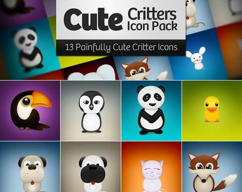 cutecrittericonpack 99 Icon Sets To Use In Commercial Design Projects