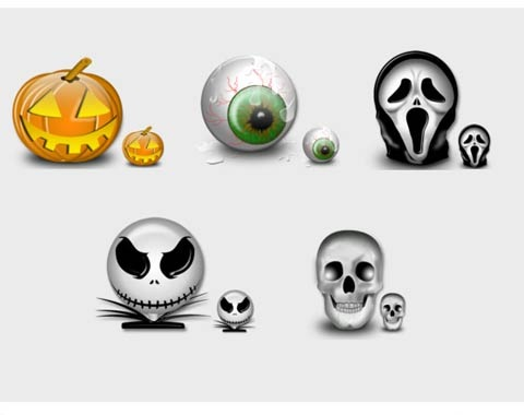 haloweenset 99 Icon Sets To Use In Commercial Design Projects