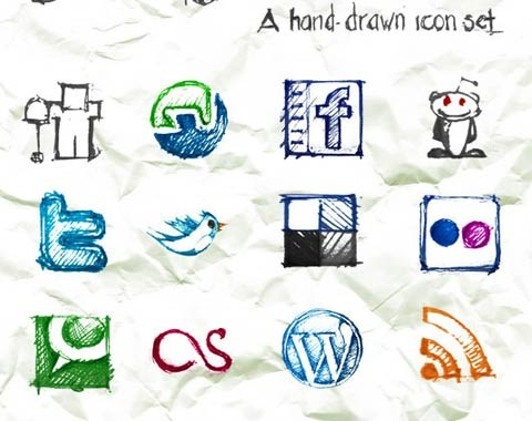 handdrawniconset 99 Icon Sets To Use In Commercial Design Projects