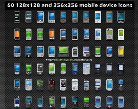mobiledeviceicons 99 Icon Sets To Use In Commercial Design Projects