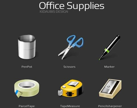 officesupplies 99 Icon Sets To Use In Commercial Design Projects