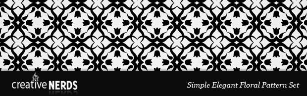 photoshoppatternbanner Simply But Elegant Floral Photoshop Pattern Set