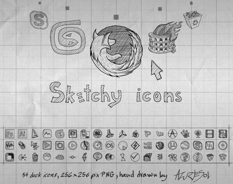 sketchyicons 99 Icon Sets To Use In Commercial Design Projects
