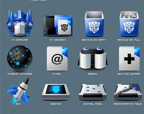 transformers 99 Icon Sets To Use In Commercial Design Projects