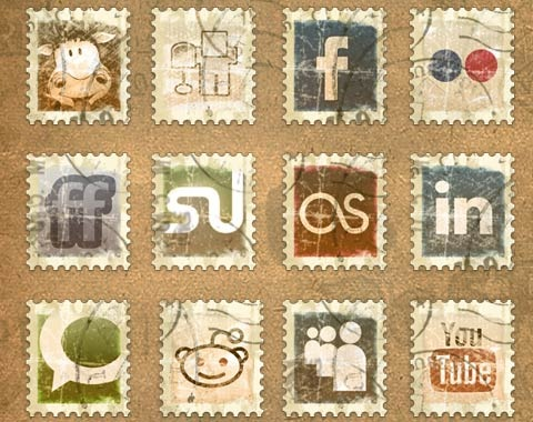 vintagebadgeicons 99 Icon Sets To Use In Commercial Design Projects