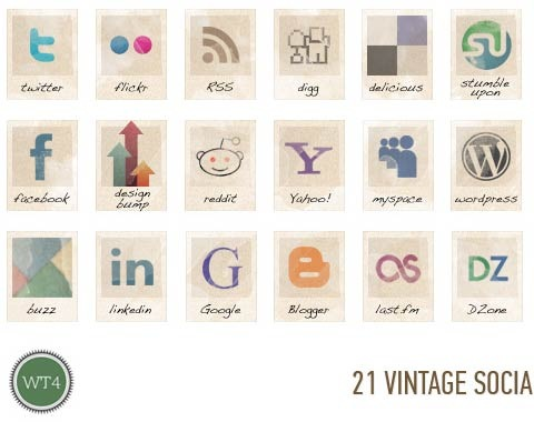 vintageicons 99 Icon Sets To Use In Commercial Design Projects