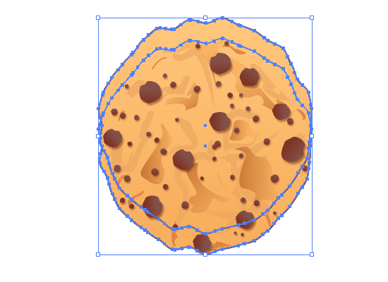 cookie 26 How to Create a Delicious Chocolate Chip Cookie In Illustrator