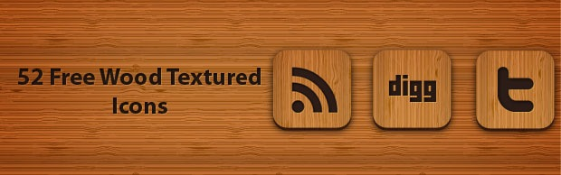 woodbanner 50 Free Wood Textured Social Media Icons