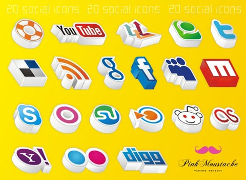 3diconsyellow 50 Best Remarkable Icon Sets From 2010
