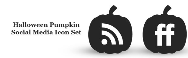 bannerhalloween1 Halloween Pumpkin Social Media Icon Set