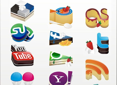 cakesocialicons 50 Best Remarkable Icon Sets From 2010
