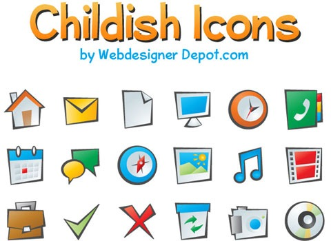 childishicons 50 Best Remarkable Icon Sets From 2010