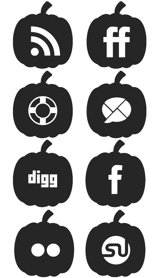 halloweeniconset Halloween Pumpkin Social Media Icon Set