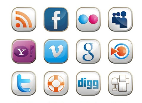 socialiconetsqaure 50 Best Remarkable Icon Sets From 2010