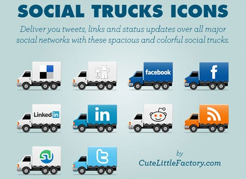 socialtruckicons 50 Best Remarkable Icon Sets From 2010