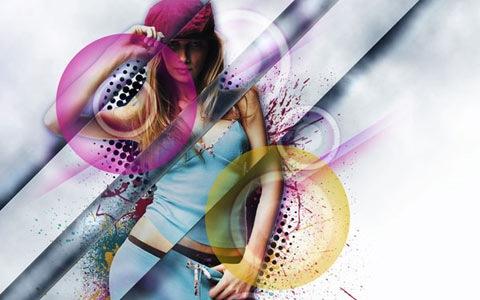 displacementeffect 100 Best Photoshop Design Tutorials From 2010