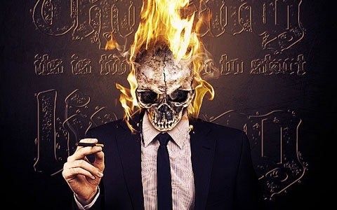 fireskull 100 Best Photoshop Design Tutorials From 2010