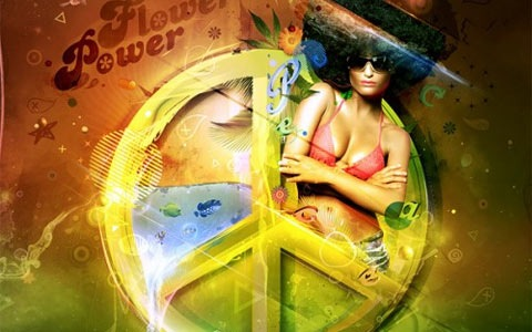 flowerpower 100 Best Photoshop Design Tutorials From 2010