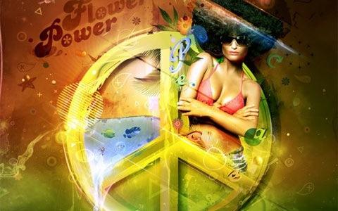 flowerpower 100 Best Photoshop Design Tutorials From 2010