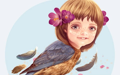 girl-bird