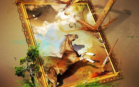 horseframe 100 Best Photoshop Design Tutorials From 2010