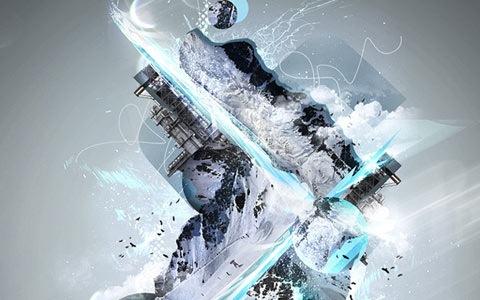 snowland 100 Best Photoshop Design Tutorials From 2010