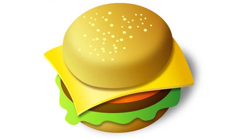 burger 50 Best Illustrator Design Tutorials From 2010