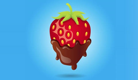 choctlatestrawberry 50 Best Illustrator Design Tutorials From 2010