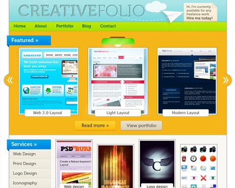 creativepotfolio 20 Best Design Tutorials From 2010 To Create an Mind blowing Website