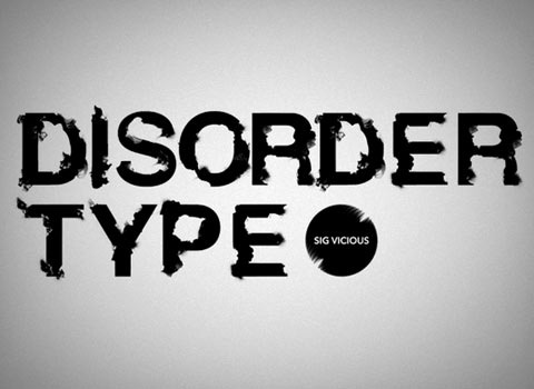 disorder 30 Top Best Free Fonts From 2010