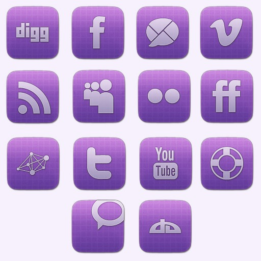 gridiconset Vibrant Sophisticated Social Media Icon Set