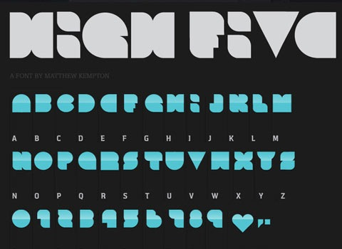 highfive 30 Top Best Free Fonts From 2010