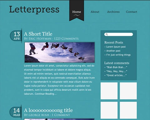 lettepresswebdesign 20 Best Design Tutorials From 2010 To Create an Mind blowing Website