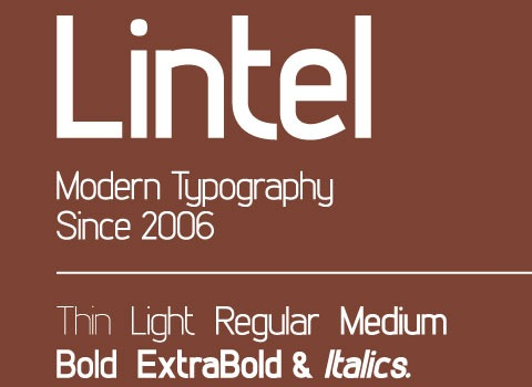 lintel 30 Top Best Free Fonts From 2010