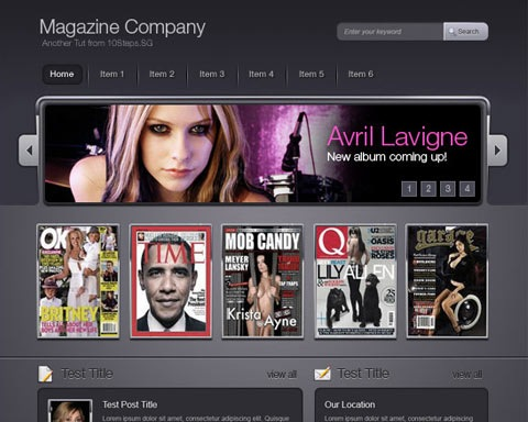 magzinecompany 20 Best Design Tutorials From 2010 To Create an Mind blowing Website