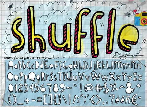 shuffle 30 Top Best Free Fonts From 2010