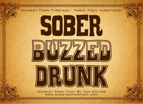sobberbuzzed 30 Top Best Free Fonts From 2010