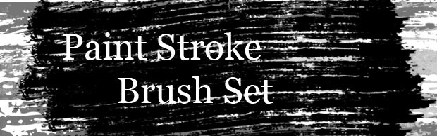paintstrokebanner A High Quality Grungy Paint Stroke Photoshop Brush Set