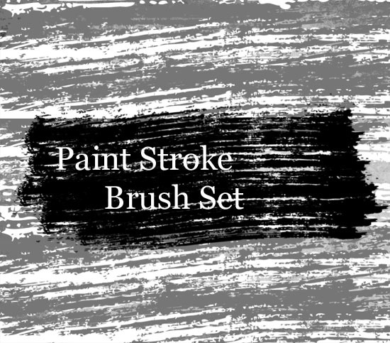 paintstrokepreview A High Quality Grungy Paint Stroke Photoshop Brush Set