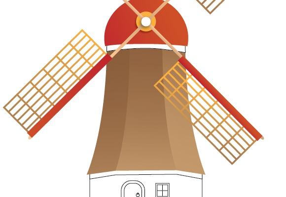35 How To Create A Beautiful Windmill Illustration Using Illustrator
