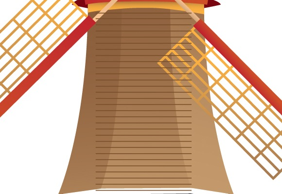 38 How To Create A Beautiful Windmill Illustration Using Illustrator