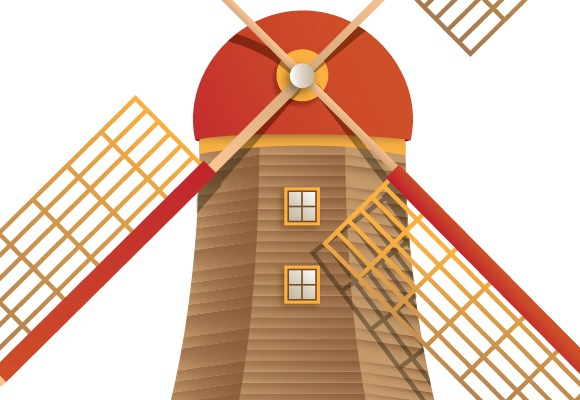 55 How To Create A Beautiful Windmill Illustration Using Illustrator