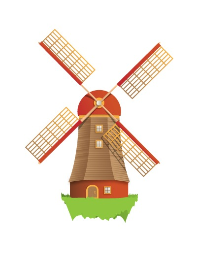 final How To Create A Beautiful Windmill Illustration Using Illustrator