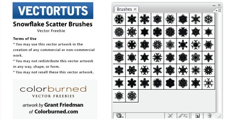 snowflakes 25 Best Illustrator Brushes All In One Place